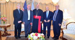 نيافة الأسقف مار بولص بنيامين يستقبل السيد عوديشو داود عوديشو مسوؤل منظمة أسيرو الخيرية التابعة لكنيسة المشرق الآشورية في شمال العراق