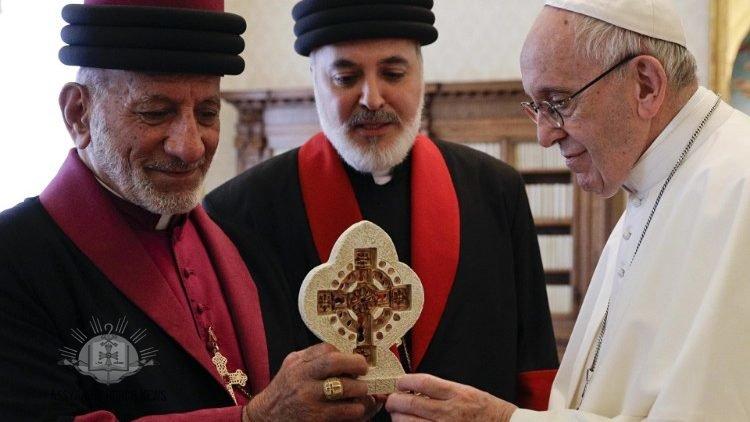 1cf34cda5343e كلمة قداسة البطريرك مار كيوركيس الثالث بطريرك كنيسة المشرق الآشورية إلى  قداسة البابا فرنسيس الذي استقبله صباح اليوم